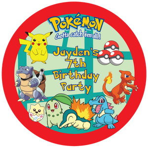 Pokemon Party Box Stickers