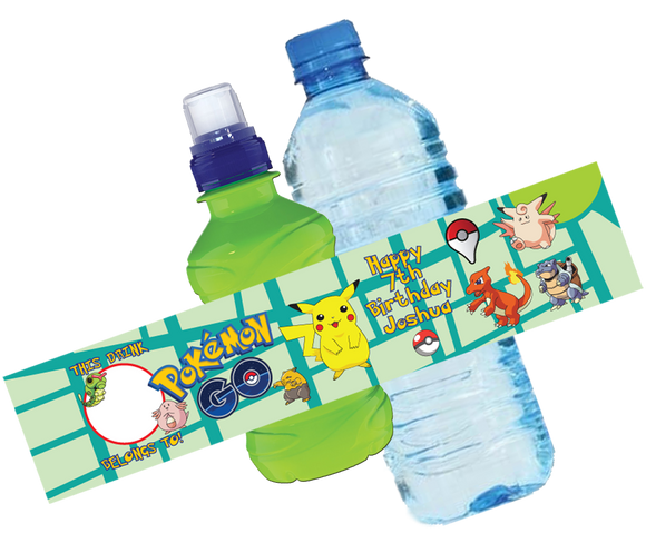 Pokemon Go Bottle Wrappers