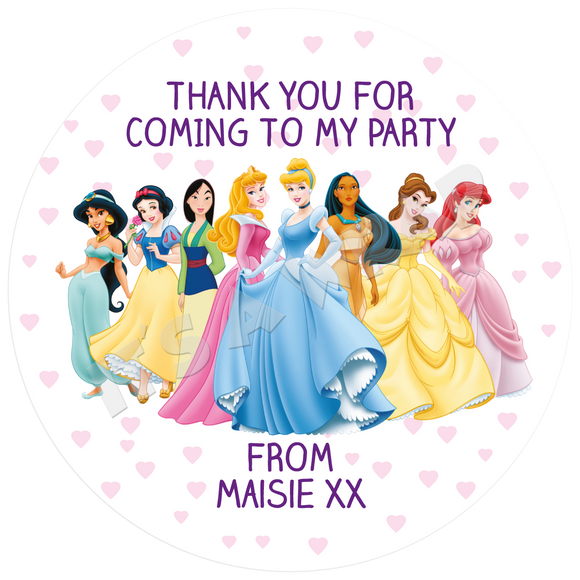 Disney Princesses Party Box Stickers