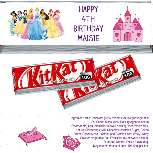Disney Princesses KitKat Wrappers