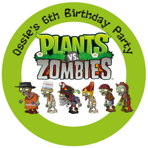 Plants v Zombies Party Box Stickers