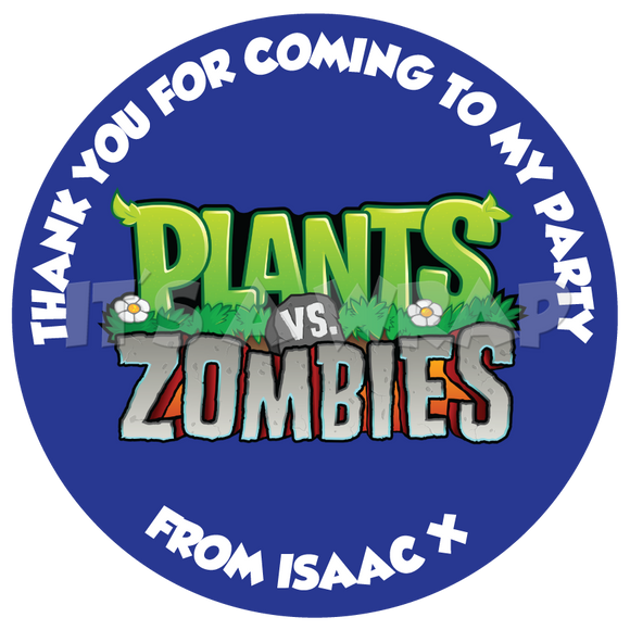 Plants V Zombies Sweet Cone Stickers