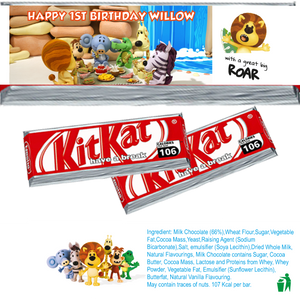 Raa Raa the Noisy Lion KitKat Wrappers