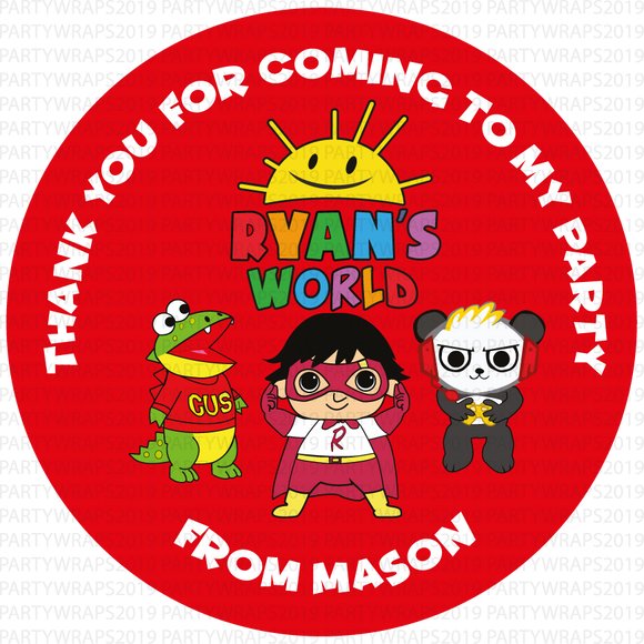 Ryans World Sweet Cone Stickers