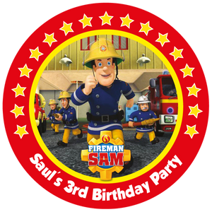 Fireman Sam Party Box Stickers