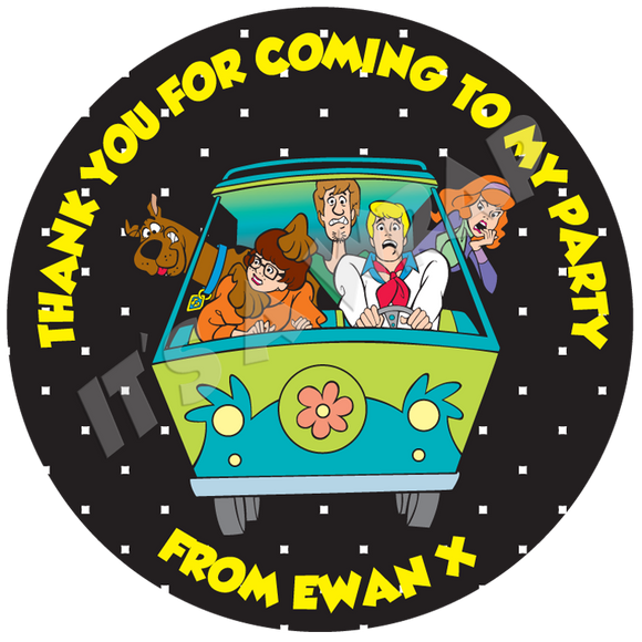 Scooby Doo Sweet Cone Stickers