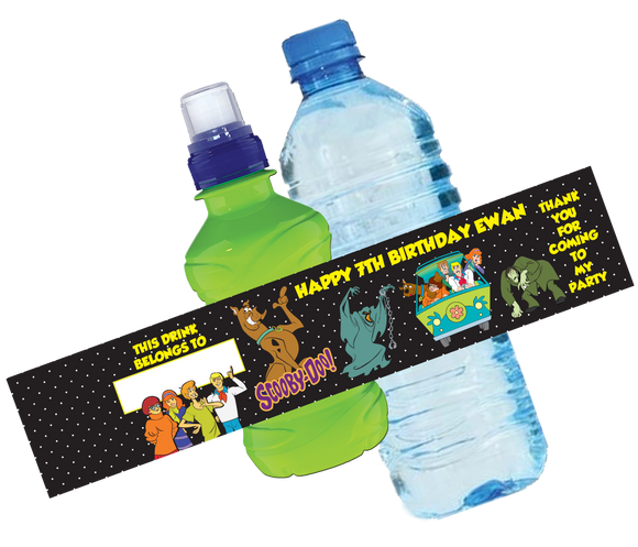 Scooby Doo Bottle Wrappers