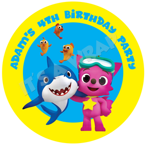 Baby Shark Party Box Stickers