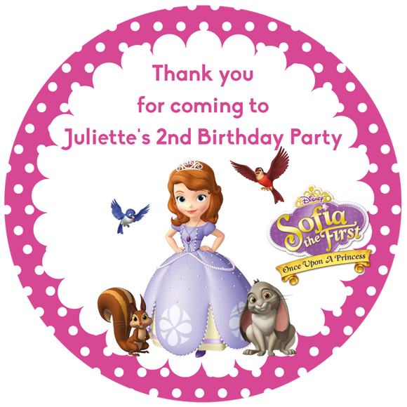 Sofia the First Party Box Stickers