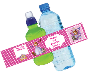 Sofia the First Bottle Wrappers