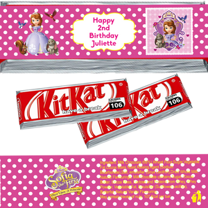 Sofia the First KitKat Wrappers