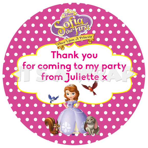 Sofia the First Sweet Cone Stickers