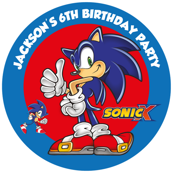 Sonic Hedgehog Party Box Stickers