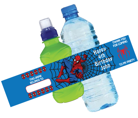 Spiderman Bottle Wrappers