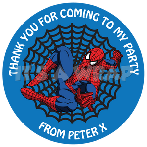 Spiderman Sweet Cone Stickers