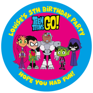 Teen Titans Party Box Stickers