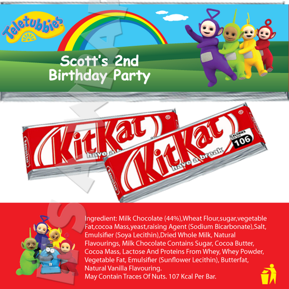 Teletubbies KitKat Wrappers