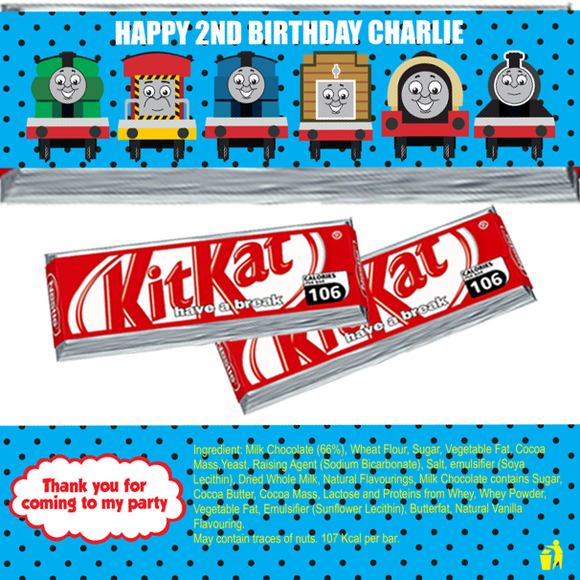 Thomas the Tank KitKat Wrappers