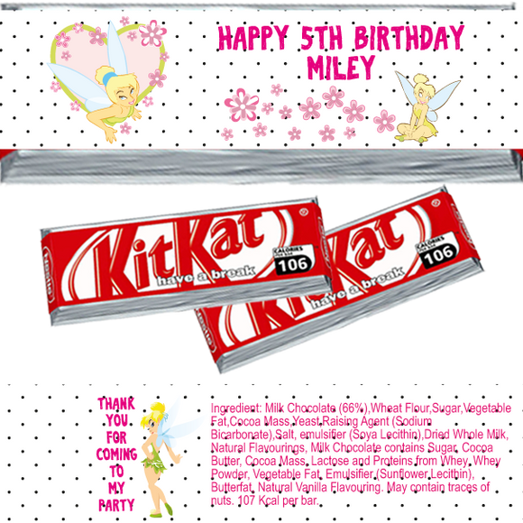 Tinkerbell KitKat Wrappers
