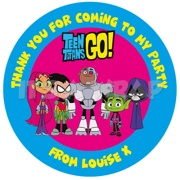 Teen Titans Sweet Cone Stickers