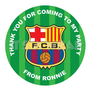 Barcelona Football Sweet Cone Stickers