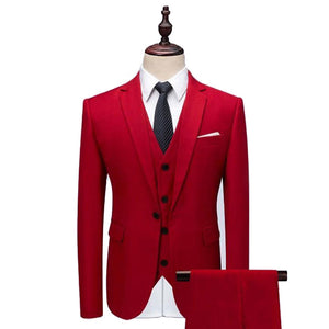 The Volcan: Fiery Bright Red Suit