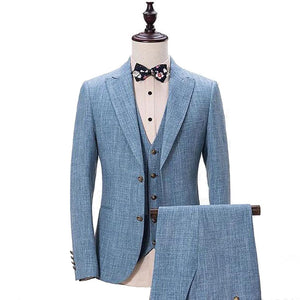 The Scientifique: Blue Linen Suit