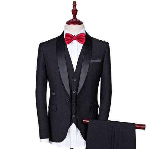Image of The Sorcier: Black Tuxedo Suit