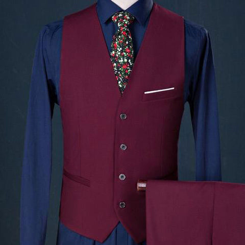 Image of The Merlot: Crisp Burgundy Suit
