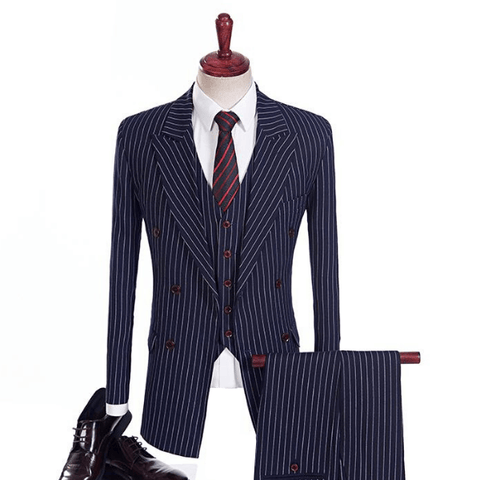 Image of The Blaise: Navy Blue Pinstripe Suit