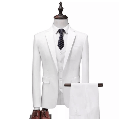 Image of The Delsarte: White Silk Suit