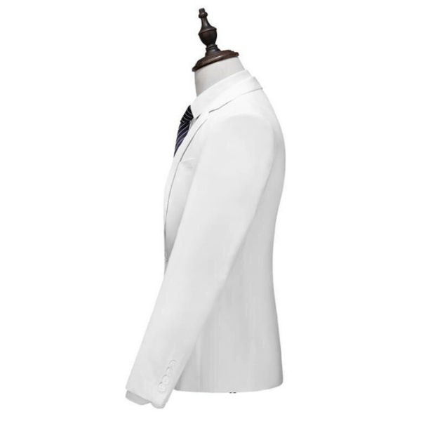 The Delsarte: White Silk Suit
