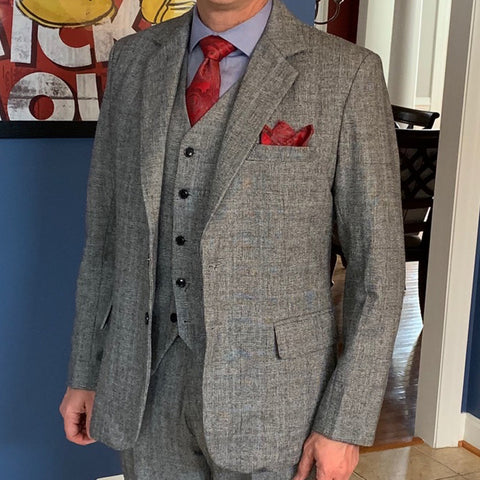 Image of The Laurent: Grey Patterned Suit