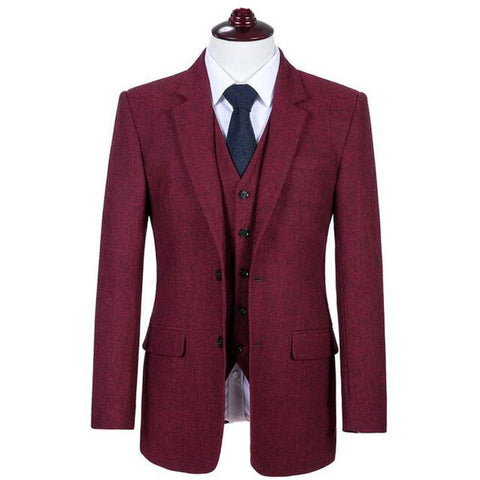 Image of The Chartres: Red Wool Suit