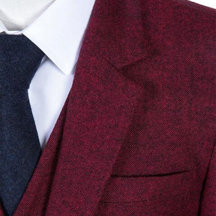 The Chartres: Red Wool Suit