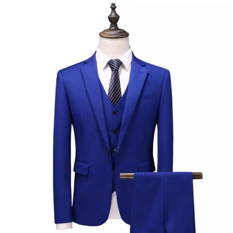 The Arctique: Royal Blue Silk Suit