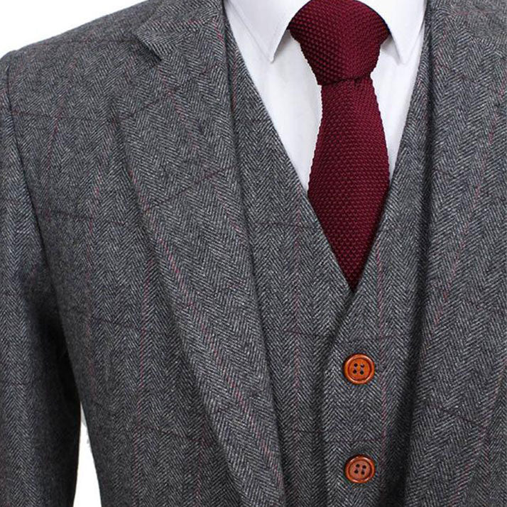 The Marseille: Grey Accented Wool Suit