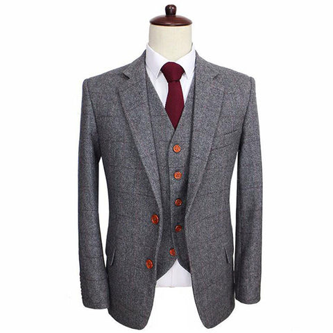 Image of The Marseille: Grey Accented Wool Suit