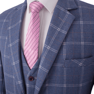 The Aries: Light Blue Check Suit