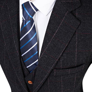 The Bordeaux: Dark Charcoal Suit