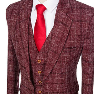 The Champs-Elysées: Burnt Red Check Suit