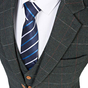 The Dijon: Charcoal Check Suit