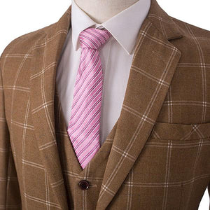 The Limoges: Light Brown Check Suit
