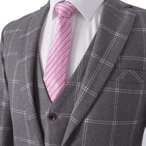 The Mans: Grey Check Suit