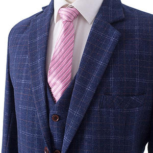 The Marais: Dark Blue Check Suit