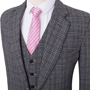 The Mulhouse: Grey Plaid Suit