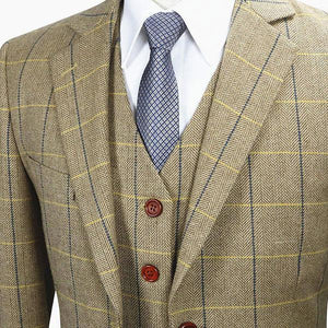 The Saint Germain: Tan Accented Suit
