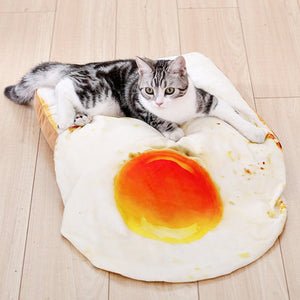 Fried Egg Cat Blanket Mat Fried Egg Cat Blanket Mat Houses, Kennels & Pens HOOPET The Purr House- The Purr House
