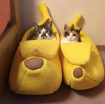 The Banana - Hideaway Cat Bed The Banana - Hideaway Cat Bed Cat Beds & Mats eLife Co.,Ltd The Purr House- The Purr House
