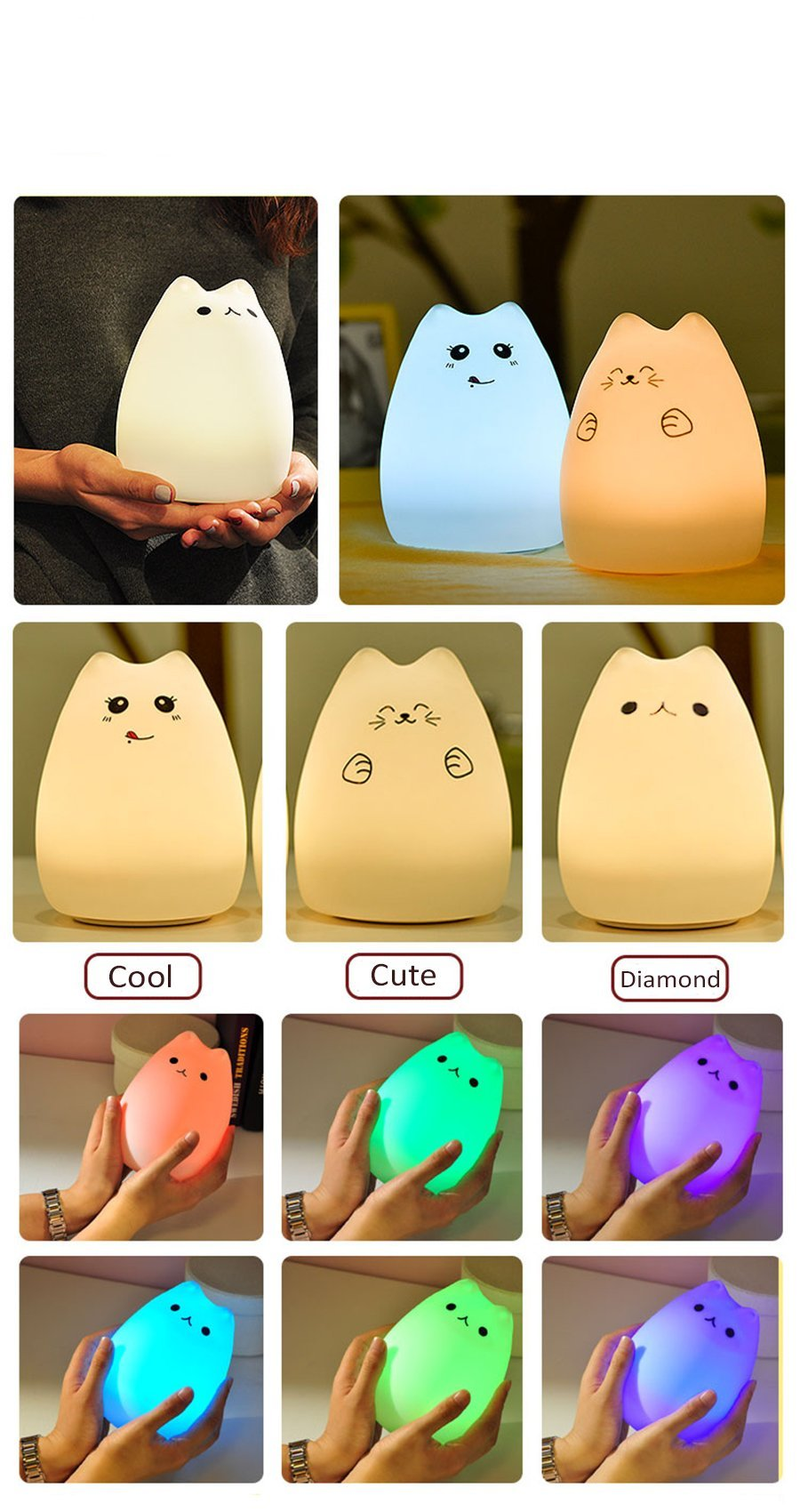 Light The Cat - Silicone Touch Lamp Light The Cat - Silicone Touch Lamp lamp The Purr House The Purr House- The Purr House